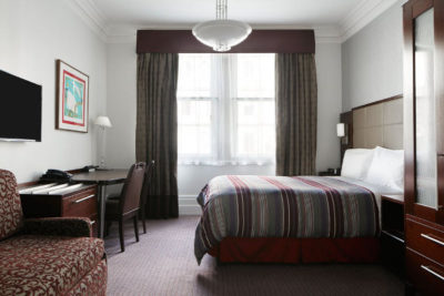 Club Quarters Hotel Trafalgar Square Londra London camera